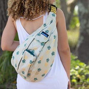 Kavu Pineapple Express Crossbody Rope Sling Bag